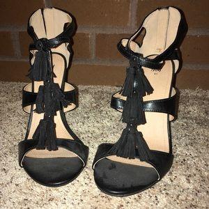 H&M black strappy NWOT stiletto heels